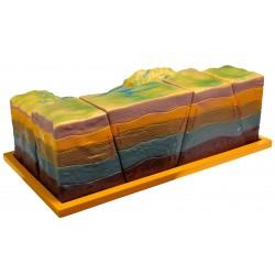 Powstawanie uskoków, zrębu i rowu tektonicznego - model rozkładany