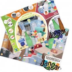ODPADY: Puzzle edukacyjne (88 elementów w pudełku z podkładką), pakiet 2w1