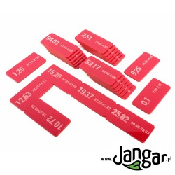 Domino – Odejmowanie ułamków dziesiętnych, grawerowane