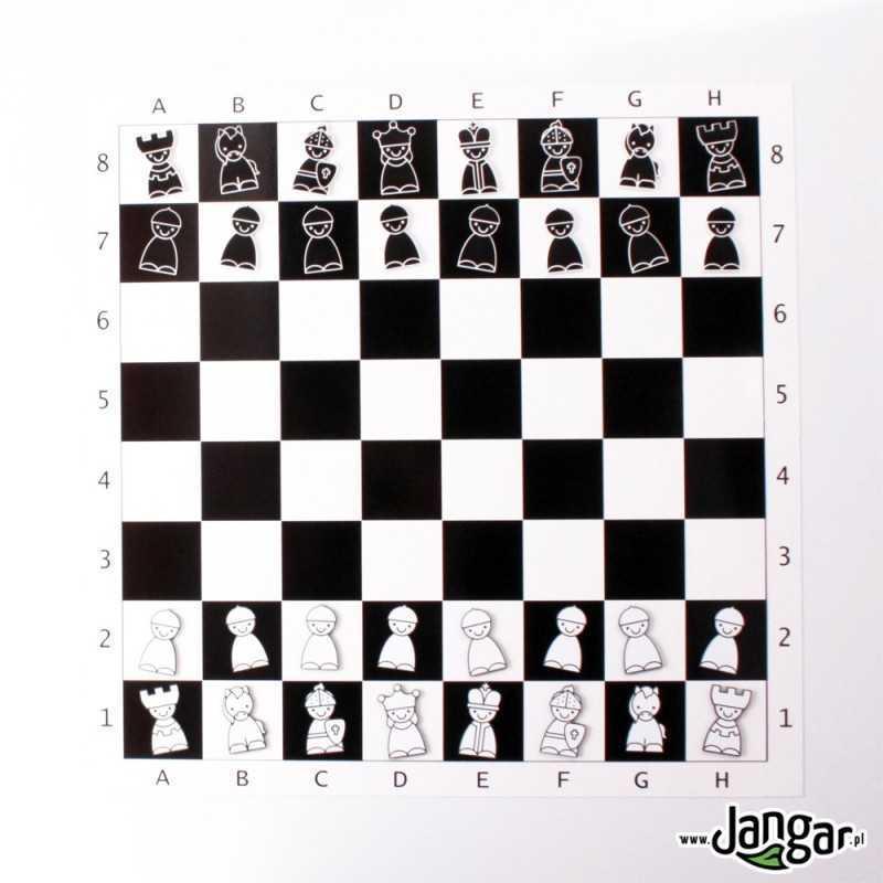 Demonstracyjne szachy magnetyczne dla dzieci (na tablicę szkolną)