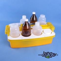 Zestaw pojemników do próbek w nosidle
