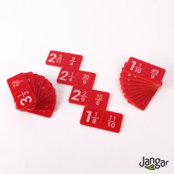 Domino – Ułamki niewłaściwe i liczby mieszane, grawerowane