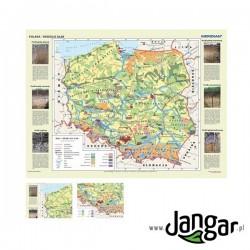 Mapa ścienna, 160x120 cm: Polska. Gleby - rodzaje