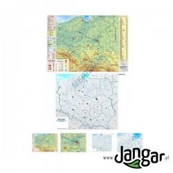 Mapa ścienna: DUO Polska fizyczna z elementami ekologii / mapa hipsometryczna