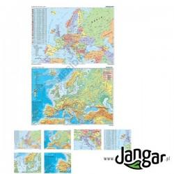 Mapa ścienna: DUO Europa fizyczna z elementami ekologii / Europa polityczna