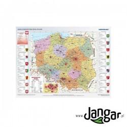 Mapa ścienna, 100x70 cm: Mapa administracyjna Polski