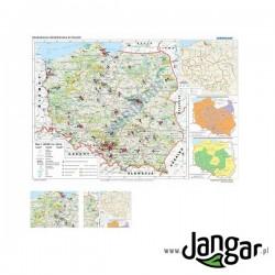 Mapa ścienna: Degradacja środowiska w Polsce