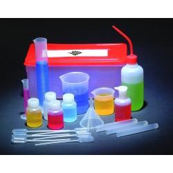 Zestaw wyposażenia doświadczalnego, 20-elementowy, plastikowy