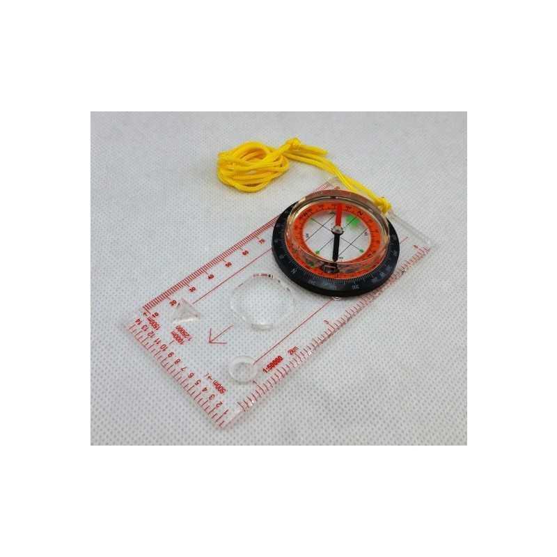 Kompas kartograficzny z linijką i 4 skalami