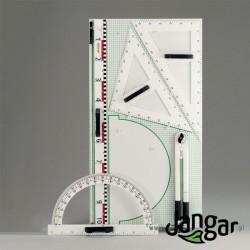 Przyrządy tablicowe z tablicą do zawieszania (II), wersja magnetyczna