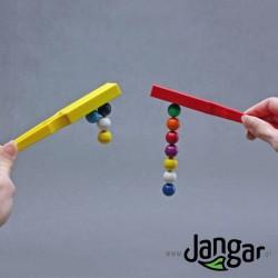 Zestaw 2 magnetycznych różdżek i kulistych magnesów