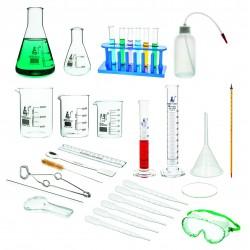 Zestaw podstawowy szkła i wyposażenia laboratoryjnego