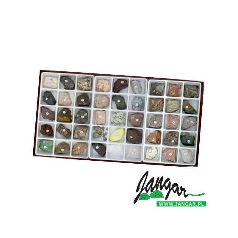 Kolekcja skał – zestaw rozszerzony (45 okazów)