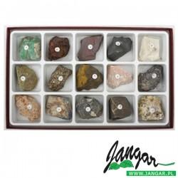 Kolekcja popularnych rud metali (15 okazów)